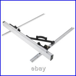 1000mm Table Saw Fence Set Black Silver Aluminum Alloy With Fine Adjustment Knob