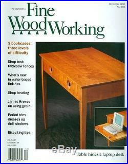 1998 Fine Woodworking Magazine 3 Bookcases/Tablesaw Fences/Water-Based Finishes