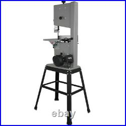 220V 10'' Professional Woodworking Bandsaw Cast Table Solid Fence stand Blade