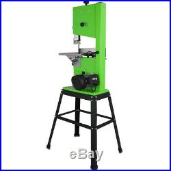 220V 10 Woodworking Bandsaw with Cast Table Solid Fence & Blade 300x300mm 11m/s