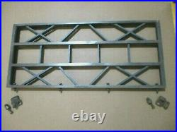 27 x 12 Craftsman Table Saw Cast Iron Extension Wing 62947 WithFence Rail Brackets