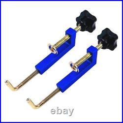 2Pcs Woodworking Fence Clamp for Table Saws Accessories Universal Blue