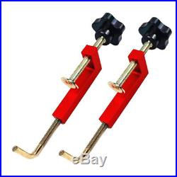 2Pcs Woodworking Fence Clamp for Table Saws Router Fences Universal Red