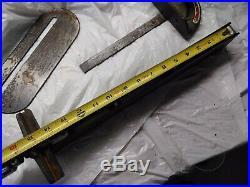 3315M Wards POWR KRAFT Power Craft Table Saw Rip Guide Fence Rail Tablesaw Acc
