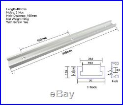 400mm T-track T-slot Router Table Fence Table Saw Aluminum Slot