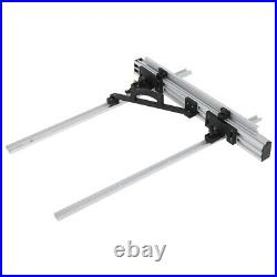 800mm Table Saw Fence Set Black Silver Aluminum Alloy with Fine Adjustment Knob