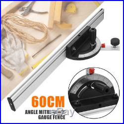 Aluminum Alloy 60cm Bandsaw Router Table Angle Mitre Guide Gauge Fence Table Saw