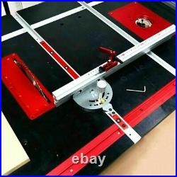 Aluminum Angle Miter Gauge Sawing Assembly Ruler Woodworking Tool 400mm Device