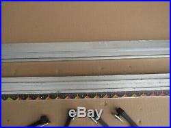 CRAFTSMAN 315. RYOBI 10 TABLE SAW FRONT AND BACK FENCE RAILS WithCLAMPS BT3000