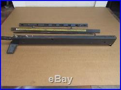 Craftsman 113. XXX 10 Table Saw Twist Lock Rip Fence With Rails & Spreader Rod