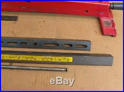 Craftsman Direct Drive 113.2266680 10 Table Saw Twist Lock Rip Fence With Rails