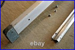 Craftsman King Seeley 8 Table Saw 103.22161 FENCE AND GUIDE RAIL