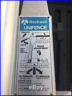 DELTA TABLE SAW UNIFENCE SAW GUIDE FENCE HEAD UNISAW 43 FENCE Great Shape