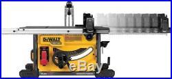 DEWALT Cordless Table Saw Kit Battery Charger Brushless Telescoping Fence Rails