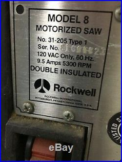 Delta Rockwell 8 Unisaw Junior Table Saw 26 X 16 craftsman guard fence