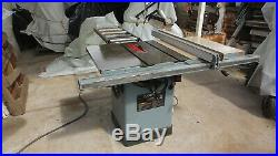 Delta Unisaw Table Saw 10 3 HP 1 Phase Biesemyer Fence Video Working