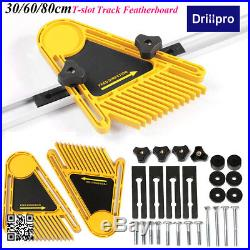 Double Feather Board Woodworking Router Table Saw Fences & T-slot Miter Track