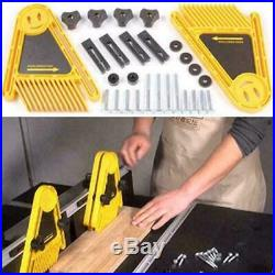 Double Featherboard Table Saw Miter Gauge Fence Woodworking A6S2 Accessory V6T5