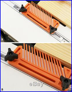 Double Featherboard Table Saw Miter Gauge Fence Woodworking Accessory