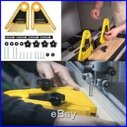 Double Featherboard Table Saw Miter Gauge Fence Woodworking Accessory A6S2