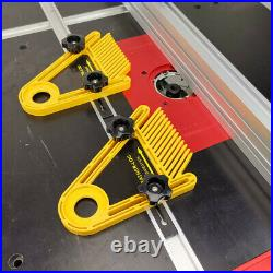 Dual Feather Board Multi-purpose Tables Saws Router Woodworking Fence Set