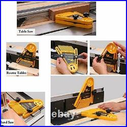 Featherboard Saftly Table Saw Push Block, Pack of 2 Table Fence for (Yellow)