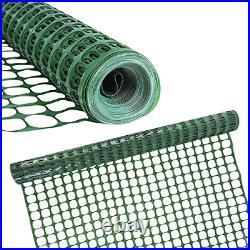 Houseables Plastic Mesh Fence, Construction Barrier Netting, Green, 4'x100' 1