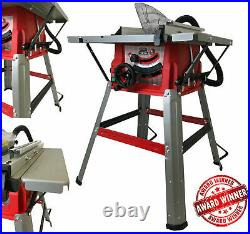 Lumberjack 8 Bench Table Saw with Stand Side Extensions Fence & TCT Blade 240V