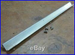 Older Craftsman 103. Table saw genuine parts aluminum fence rail 17 in