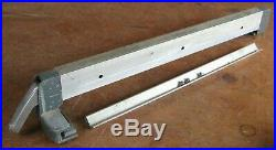 Older Craftsman 103. Table saw genuine parts fence with aluminum rail
