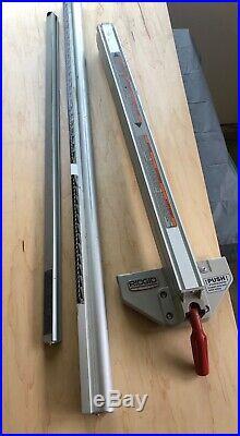 Ridgid TS2412 table saw fence and rails
