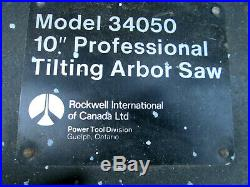 Rockwell 34050 Table Saw Parts -Extension Rails / Pipes / Fence Rails With Bolts