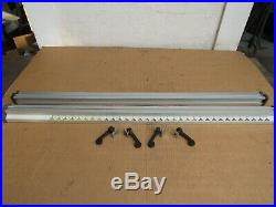 Ryobi 10 Table Saw Front And Back Fence Rails With Clamps Bt3000/bt3100