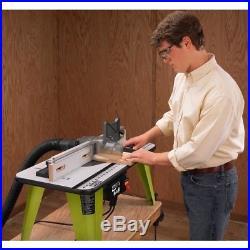 Ryobi Table Saw Universal Router Table throat plates adjustable fence Aluminum