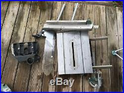 Shopsmith 500 Main Table, Rip Fence, mitre Guage& Aux Table Saw Guard Greenie