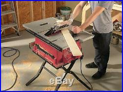 Skil 10-Inch Cast Aluminum Table Saw With Folding Stand Self-Aligning Rip Fence