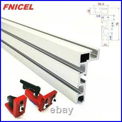 T Slot Miter Track Stop Woodworking T-tracks Aluminum Table Saw Fence Workbench