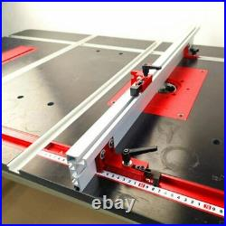 T-Slot Stopper Miter Gauge Fence Connector Alloy Track Stop Block Saw Table Slid