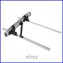 Table Saw Fence Set Black Silver Aluminum Alloy With Knob(800mm Table Saw Fence)