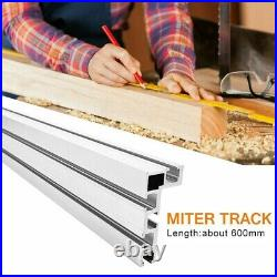 Table Saw Miter Track 600mm Accessory Aluminium Alloy Fence Stop Durable