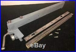 Vintage Delta Millwakee 8 Table Saw 64-1401 Rip Fence & Rails