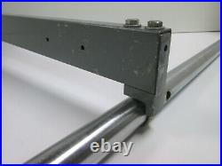 Vintage Rockwell Delta Jet-Lock Table Saw Rip Fence & 44 Guide Rails Unisaw