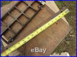 Vtg 8 Wards POWR KRAFT Power Craft Table Saw Cast Iron Extensions Fence Rail