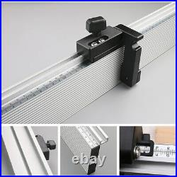 Woodworking Miter Gauge Fence Table Saw Fence and T Track Slot Sliding Brackets